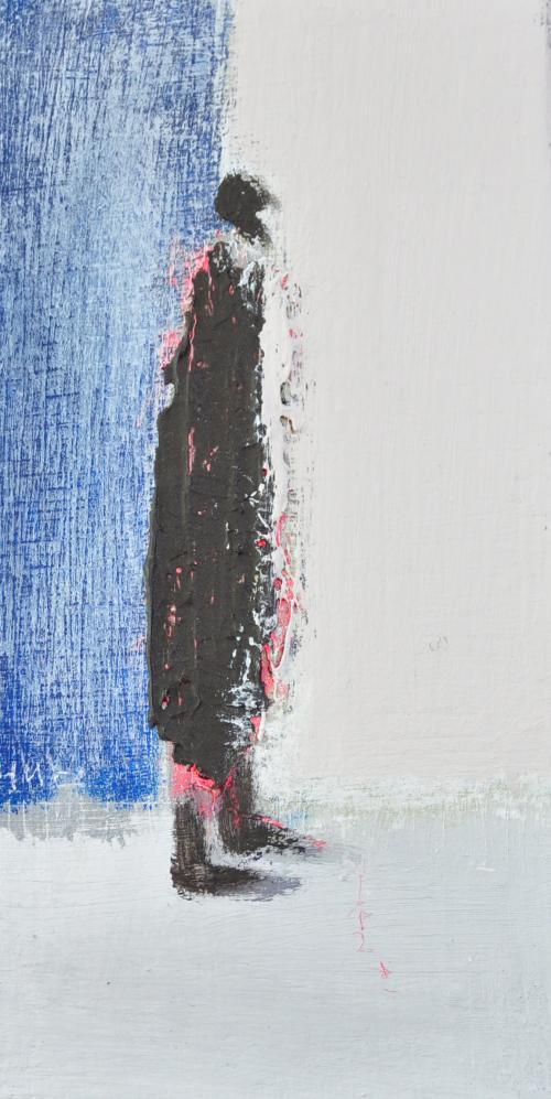 허승희,매일 해질 무렴..10x20cm, acrylic on canvas, 2018,