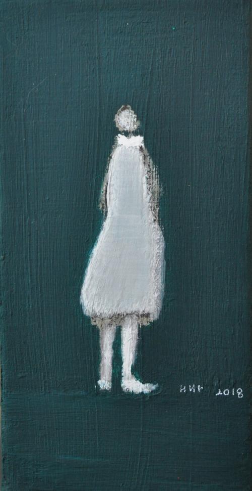 허승희,추신..10×20cm.acrylic on  canvas2018