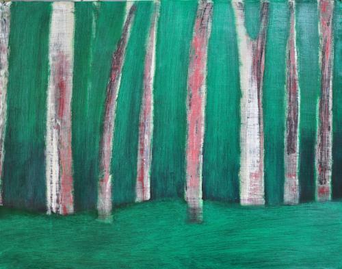 허승희, 몽환의숲,50x65cm, acrylic on canvas, 2017