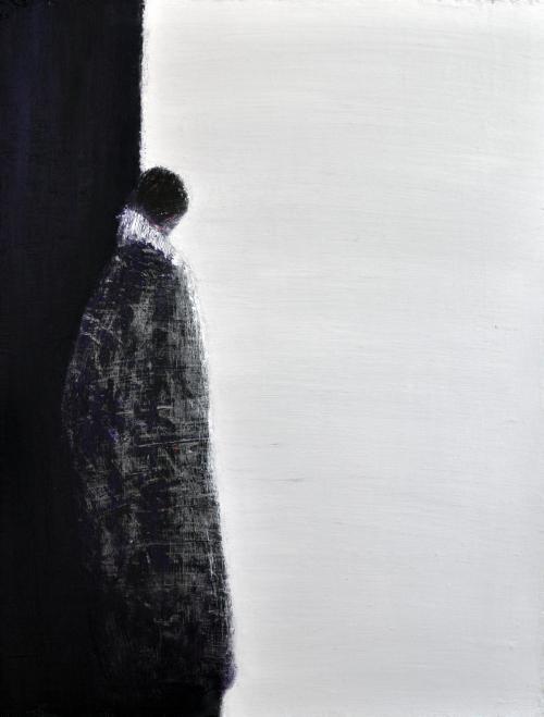 허승희,단단한 고립..41×54cm.acrylic on  canvas2018