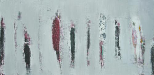홀로 걷는 사람들-42cmx20cm Acrylic on Canvas .2018 (3) 2