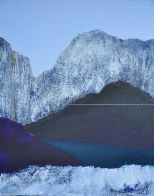 Deep Lake.72cmx91cm Acrylic on Canvas .2018